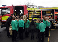 Kibworth Fire Service visit Fleckney School